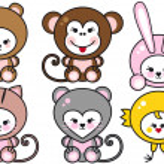 Baby animals, vector — Stock Vector
