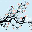 Royalty-Free Stock Imagen vectorial: Wedding birds, vector