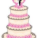 Wedding cake, vector — Stock Vector
