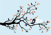 Mariage oiseaux, vector — Vecteur