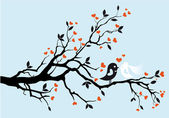 Wedding birds, vector — Stock Vector