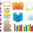 Stock Vector: Set of books, vector