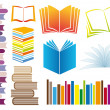 Set of books, vector — Stock Vector