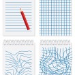 Note paper, vector — Vettoriali Stock