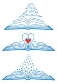 Open books, vcetor — Vettoriale Stock