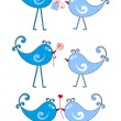Birds in love, vector — Stockvectorbeeld