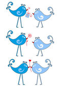 Birds in love, vector — Vettoriale Stock