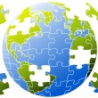 Royalty-Free Stock : Puzzle world, vector