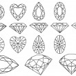 Vector diamond set — Stock Vector #6489611