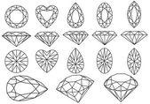 Conjunto de diamante de vetor — Vetorial Stock