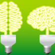 Stock Vector: Bulb brain, vector