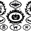 Halloween frames, vector — Stock vektor