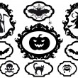 Stock Vector: Halloween frames, vector