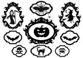 Halloween frames, vector — Stock Vector