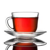 Xícara de chá isolado no branco — Fotografia Stock