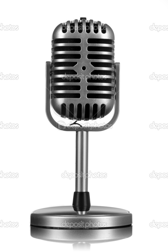 Retro microphone isolated on white — Stock Photo #5424566
