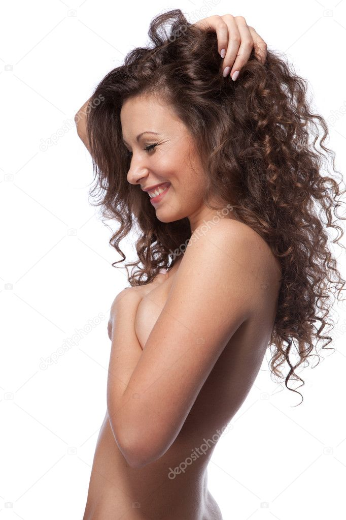nude curly haired women
