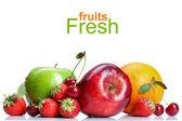 Vers fruit zomer geïsoleerd op wit — Stockfoto