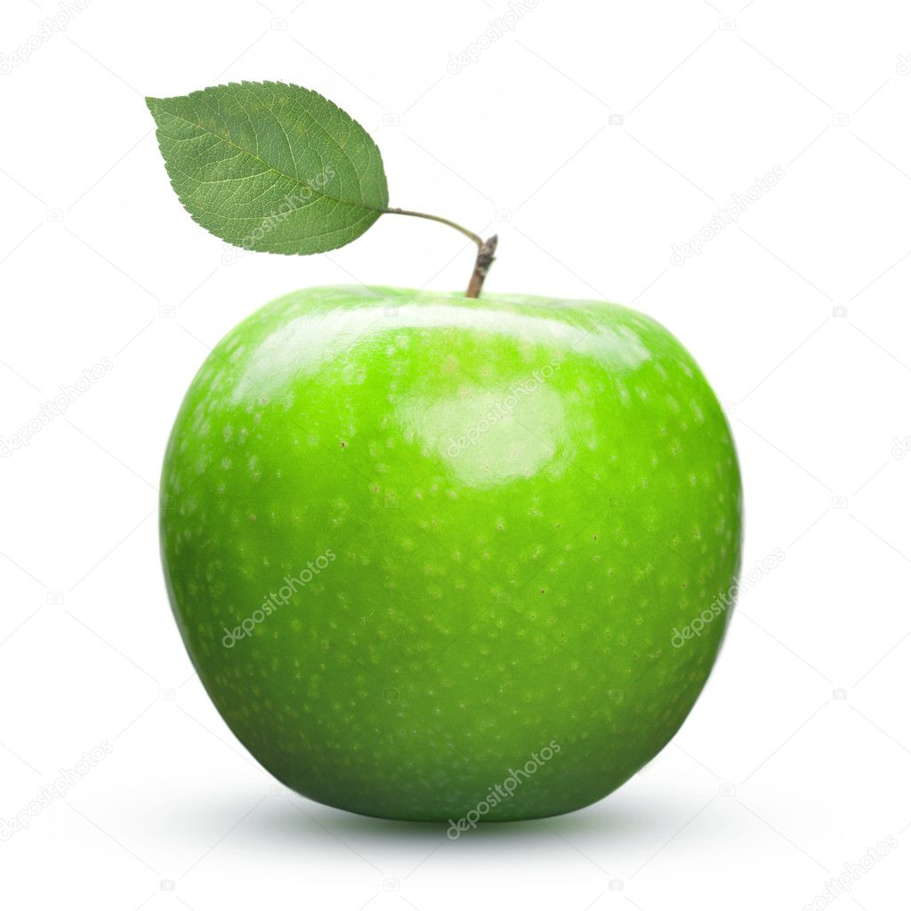 Green apple isolated on white  Stock Photo #6248705