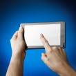 Hands holding Tablet PC — Stock Photo