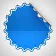 Royalty-Free Stock Photo: Blue round spotted sticker or label
