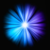 Blue Beams of light in the dark — Stock Photo