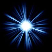 Blue Beams of light: shining star — Stock Photo