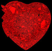 Broken crystal Heart: disease or pain — Stock Photo