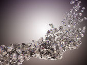 Large diamonds flow — Stock Photo