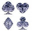 Blue Diamond shaped Card Suits — Zdjęcie stockowe #5478471