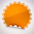 Spotted Orange round hamous sticker or label — Stock Photo