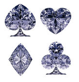 Blue Diamond shaped Card Suits — Stock Photo