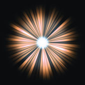 Red Beams of light: shining star in the dark — Stock Photo