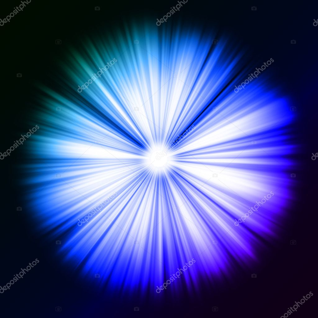 Colorful Beams of light: shining star in the dark. Large resolutin  — Stock Photo #5478723