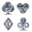 Colorful Diamond shaped Card Suits - Foto de Stock