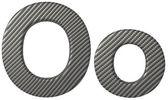 Fibra di carbonio o di carattere minuscolo e maiuscolo — Foto Stock