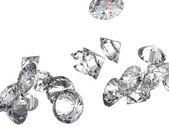 Large gemstones isolated on white — Stock Photo