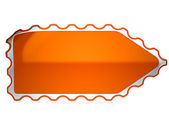 Orange hamous sticker or label — Stock Photo