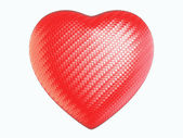 Red wattled fiber heart shape isolated — Stock Photo