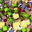 Stock Photo: Colorful cubes or candies isolated