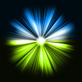 Colorful rays of light: shining star — Stock Photo