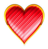 Srdce s texturou karty obleky s zlatým rámováním — Stock fotografie
