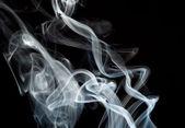 Abstrakt rök former på svart — Stockfoto