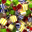 Abstract colorful cubes or candies isolated — Stock Photo #5612119