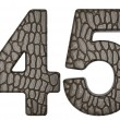 Alligator skin font 4 5 digits - Lizenzfreies Foto