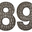 Alligator skin font 8 9 digits - Lizenzfreies Foto