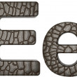 Alligator skin font E lowercase and capital letters - Lizenzfreies Foto