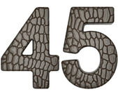 Alligator skin font 4 5 digits — Stock Photo