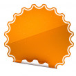Spotted Orange round hamous sticker or label — Stock Photo #5650391