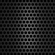 Metallic grill texture on black background - Stock Photo
